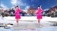 河北青青广场舞《又见雪花飞》
