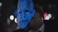 春节新玩具, LED显示屏做成面具, 戴到头上会发光