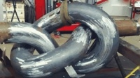日本弯管机弯任意形状钢管就像在拉面, 世界有几台能达到这效果?