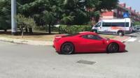 法拉利458高速路上连续超车第一视角, 这感觉太刺激了!