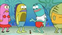 海绵宝宝: 在菠萝屋里卖蟹黄堡, 派大星和小蜗做服务员, 有意思