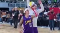 2018年NBA全明星篮球赛投篮! 贾斯汀大秀球技