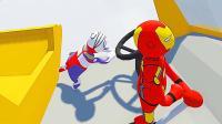 【屌德斯&小熙】 基佬大冒险 卡车司机迪迦奥特曼和钢铁侠在高速公路疾驰!