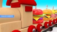 新美国学前教育幼儿英语启蒙 小火车运输美味汉堡 家中的美国学校