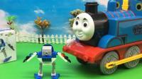 托马斯小火车长大啦 拼装天线战士积木
