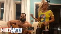 【WWE混双挑战赛】卢瑟夫和拉娜夫妇 搞笑模仿对手贝莉和伊莱亚斯
