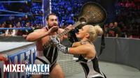 【WWE混双挑战赛】第五场: 俄罗斯美女拉娜耍狠 口红都打花了