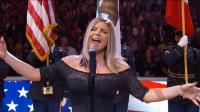 2018年NBA全明星赛赛前 歌手Fergie演唱的美国国歌堪称灾难
