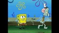 海绵宝宝: 痞老板和蟹老板之间的赌约, 章鱼哥不疼吗 ······  0 . -