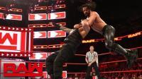【RAW 02/19】7人车轮战第1场 罗门-伦斯被好兄弟赛斯-罗林斯淘汰