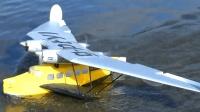 未来的RC水上飞机模型 飞行表演