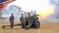 美国海军陆战队-在总统日期间-向川普总统致敬-共21发礼炮