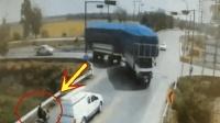 男子停下等车, 谁知到死也没明白, 大货车是怎么出现的
