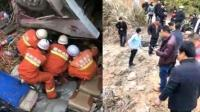 江西赣州客车侧翻事故已致11死20伤