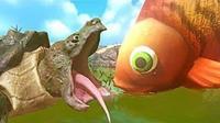 魔哒爆笑海底大乱斗 萌萌的小鱼也有大大的能量目标就是抢食物吃