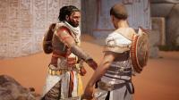 【入江闪闪】刺客信条: 起源01-托勒密王朝守护者巴耶克, 回到沙漠绿洲的家乡锡瓦与好友汇合