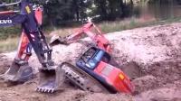 聪明的挖掘机救援!