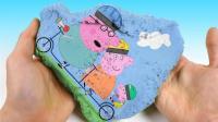 论创意我只服魔力太空沙! 用太空沙讲故事, 创意小猪佩奇3D电影蒙太奇