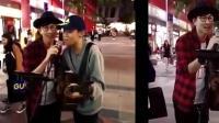 街头艺人演唱《江南》! 遇到原唱林俊杰捧场, 激动流泪!