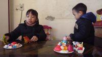 小猪佩奇玩具 37:过家家厨房玩具 男孩女孩做饭煮饭厨具餐具儿童玩具 宝宝认知蔬菜水果切切乐 猪猪侠玩具车超级飞侠水果切切看玩具 玩具妈妈过家家亲子游戏