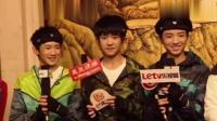 TF被采访遇难题, 王俊凯和千玺同时把话筒递给王源, 王源尴尬救场