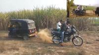 印度三轮摩托车PK两轮摩托车, 三辆两轮摩托最后输了