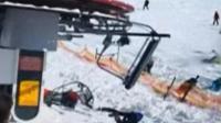格鲁吉亚滑雪场缆车失控, 多名滑雪者受伤