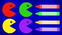拿出彩色画笔给小球涂上颜色吧