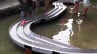 日本爱好者 举行水下四驱车比赛