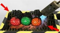 实验: 将发泄抗压球放入1000度粉碎机里, 结果会怎样?