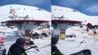 滑雪胜地缆车失控是怎么回事? 现场乱作一团