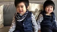 林志颖晒教双胞胎儿子背诗的视频, 两个小宝宝摇头晃脑超可爱!
