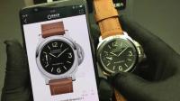 N沛纳海pam00111机械腕表对比正品 国产确实一模一样