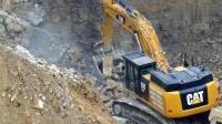 挖机采石矿, 这么多石头真装不了多少!