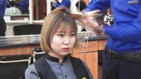 """发型师教学, 快速打理日式短发""""波波头""""简单时尚, 真专业!"""