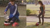 爆笑恶搞: 在足球里装满水, 整蛊帮忙传球的路人