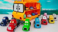 赛车总动员的小赛车和巴士喜欢惊喜蛋玩具