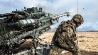 美军极其强大的M777 155毫米榴弹炮M119A3 105毫米榴弹炮-射击!