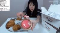 大胃王卡妹吃冰激凌和6个可乐饼, 这妹子的生活真的是美滋滋