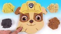七彩太空沙变身汪汪队小丽巧克力蛋糕? 创意新玩法视频教程送给你