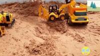 儿童挖掘机 推土机 货车户外工作 玩具视频