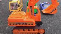 汽车挖掘机学习颜色和数字, 婴幼儿宝宝玩具游戏视频