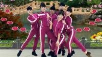 段希帆广场舞《花桥流水》原创鬼步舞风格集体对跳