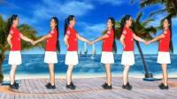 丽丽自由广场舞《最美的相遇》原创水兵舞6人对跳