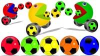 把足球放进染料变颜色