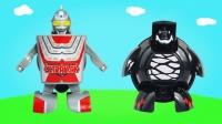 奥特曼杯面变形玩具 赛文奥特曼和怪兽雷德王