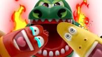 玩具动画 爆笑虫子 LARVA儿童玩具 愤怒的鳄鱼 小企鹅波鲁鲁 俊和他的玩具