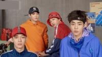 EXO拍摄运动风宣传照 扎发带帅气养眼