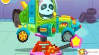 赛车总动员小汽车玩具视频 工程玩具车 垃圾车 水泥搅拌3