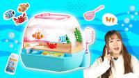 趣味儿童过家家玩具欢乐水族箱宠物电子鱼